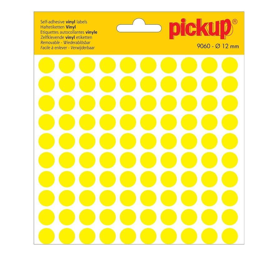 Pickup Zelfklevende sticker 12 mm, geel, 1 stuk
