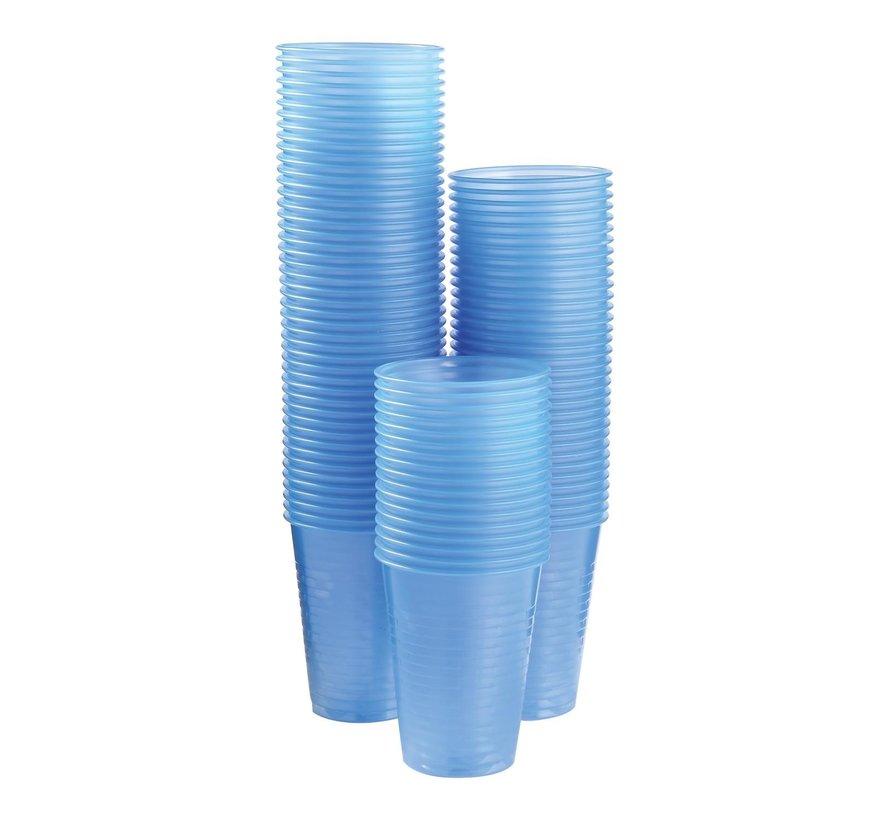 Take Dis Waterglas 200 ml, transparant-blauw, 100 stuks