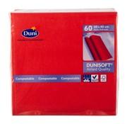 Duni Duni Servetten 40 x 40 cm, rood, 60 stuks