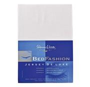 Overige merken Slimline Hoeslaken Jersey 80/90 x 200/220 cm, wit, 1 stuk