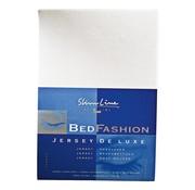 Overige merken Slimline Hoeslaken Jersey ecru, 160/180 x 200/220 cm, 1 stuk