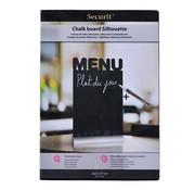 Overige merken Securit Tafelbord menu voor krijtstift 26,5 x 37 cm, 1 stuk