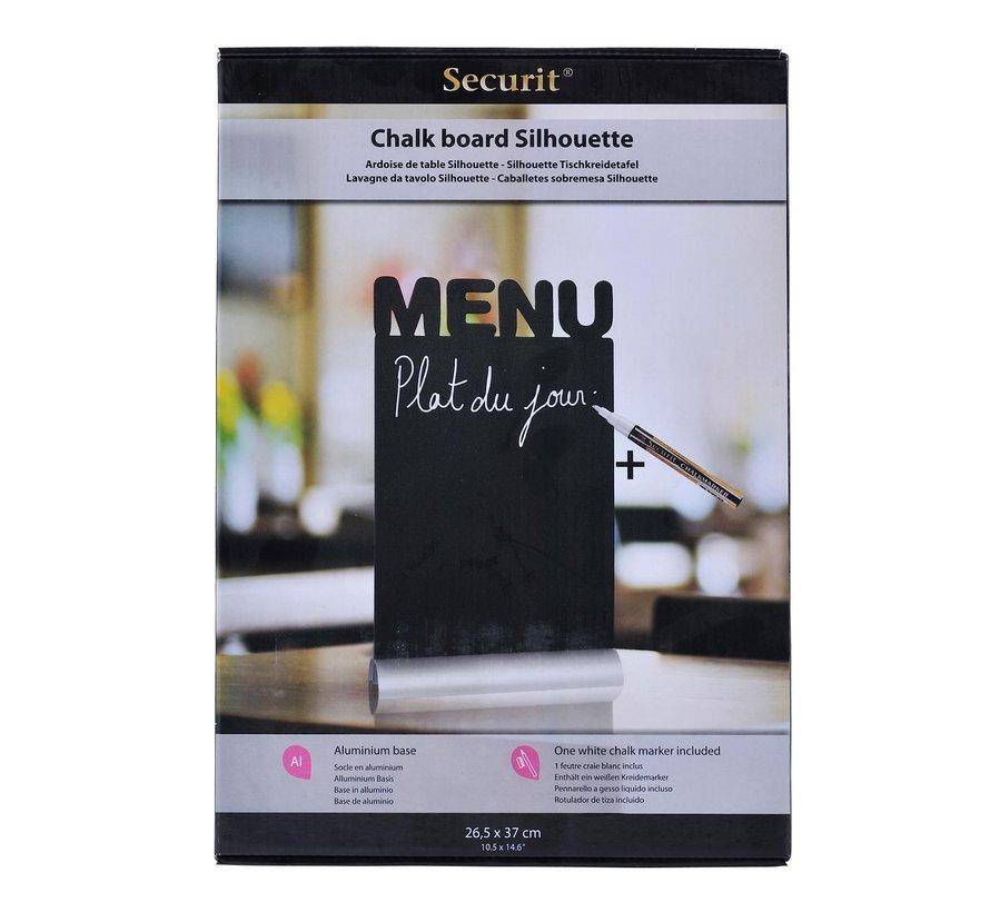 Securit Tafelbord menu voor krijtstift 26,5 x 37 cm, 1 stuk