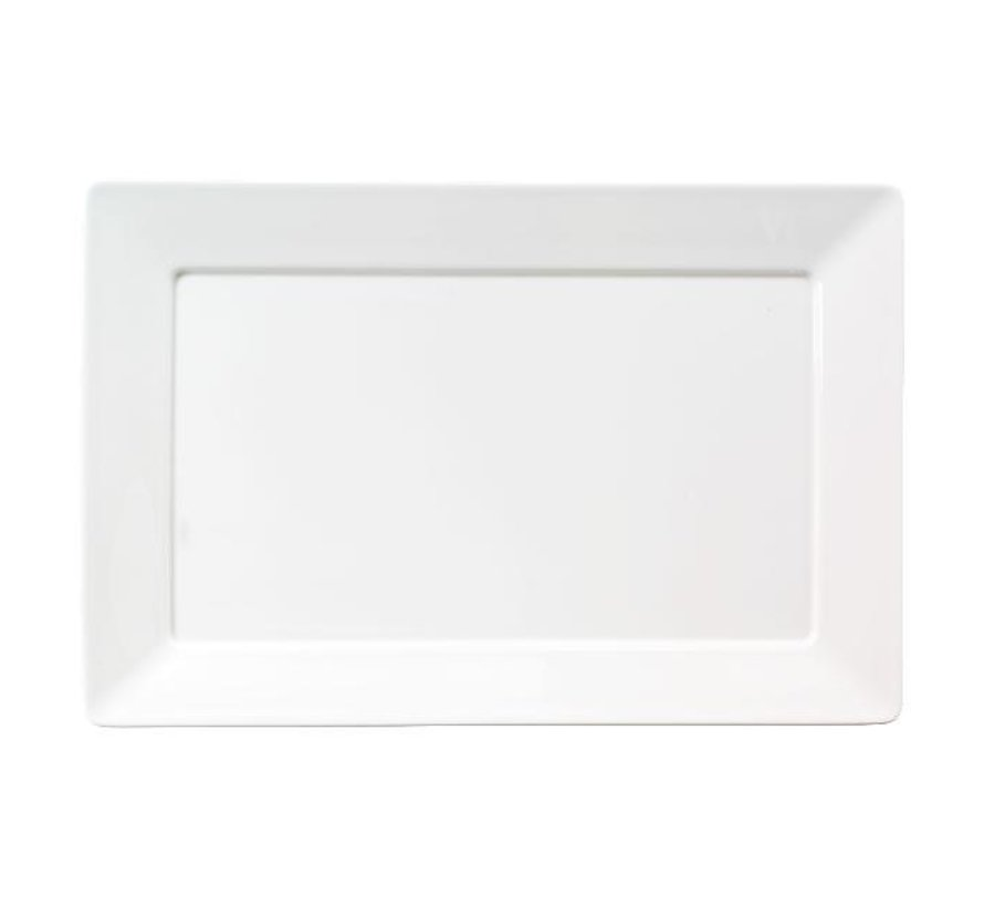 Chic Bord rechthoek wit, 32 x 23 cm, 1 stuk