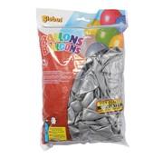 Overige merken Globos Ballonnen zilver, onbedrukt, 100 stuks