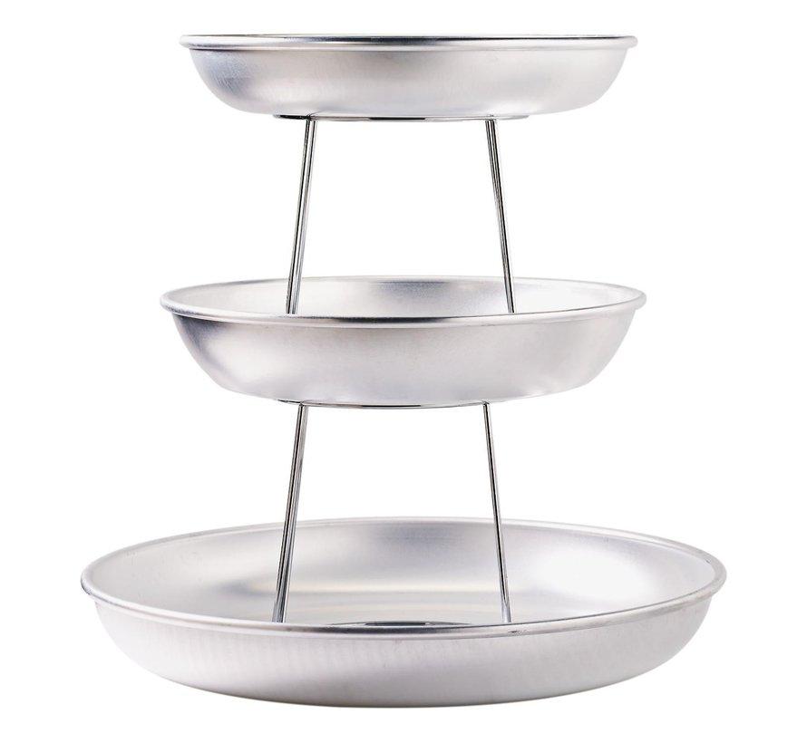 Paderno Serveerstandaard aluminium / diameter 25 cm, 1 stuk