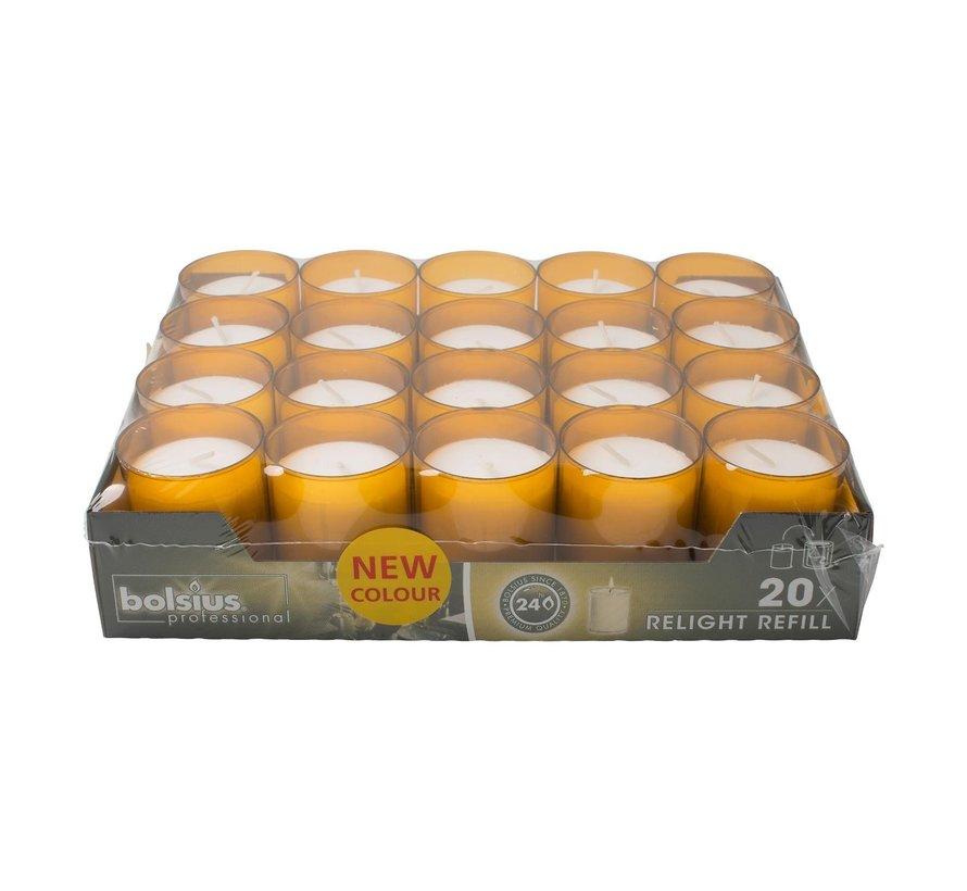 Bolsius Relight Refill Amber, 20 stuks