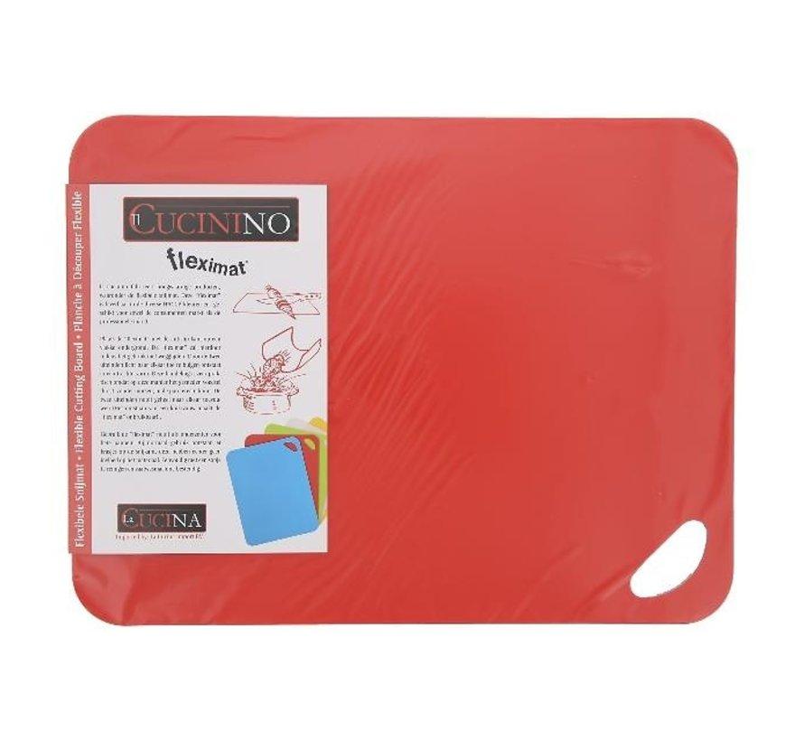 Fleximat Flexibele snijmat 38 x 29 cm, rood, 1 stuk