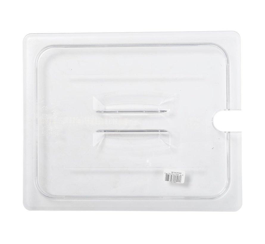 Camwear Gastronorm deksel helder transparant 1/2 polycarbonaat, 1 stuk