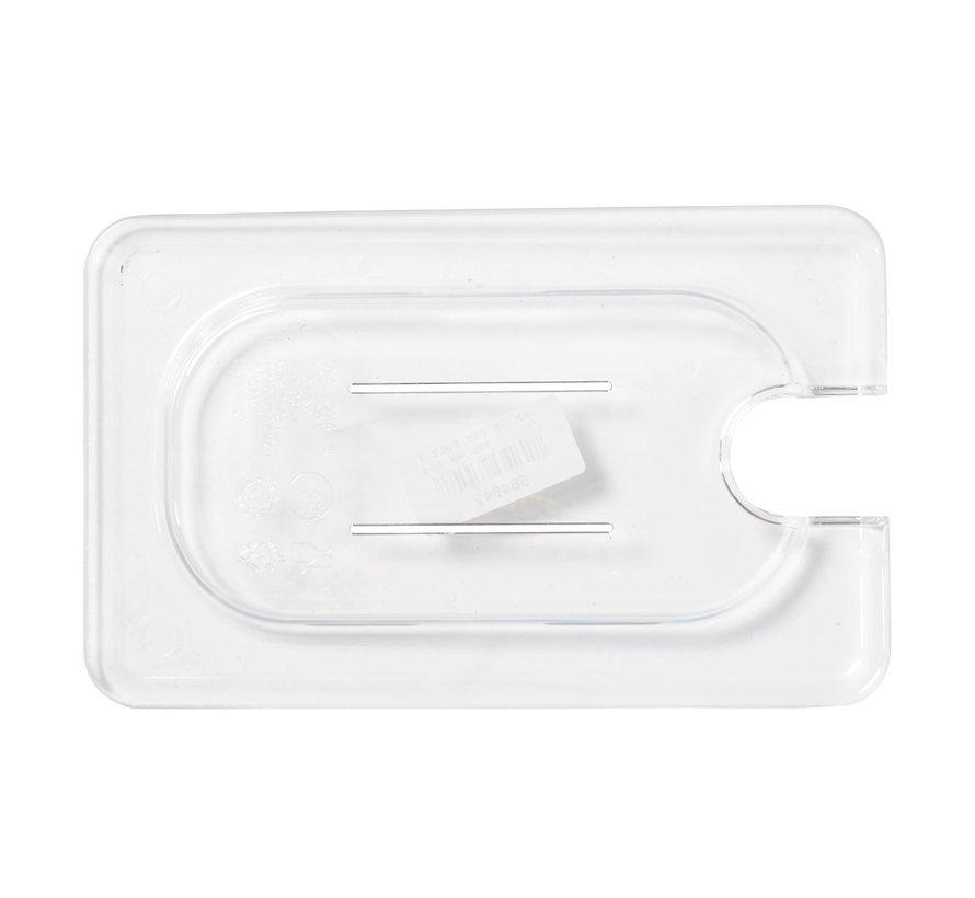 Camwear Gastronorm deksel helder transparant 1/9 polycarbonaat, 1 stuk