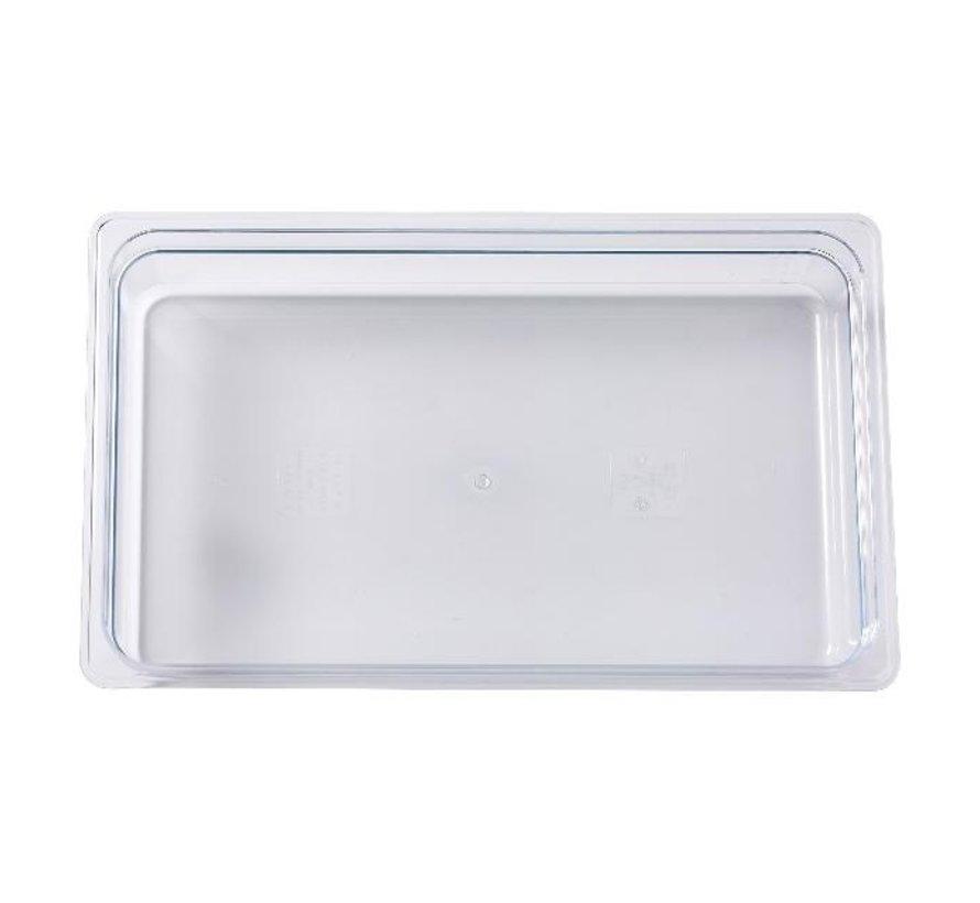 Camwear Gastronormbak helder transparant 1/1 x 100 mm polycarbonaat, 1 stuk