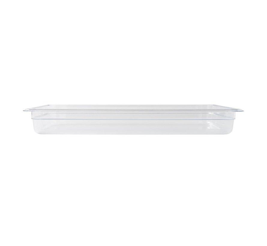 Camwear Gastronormbak helder transparant 1/1 x 65 mm polycarbonaat, 1 stuk