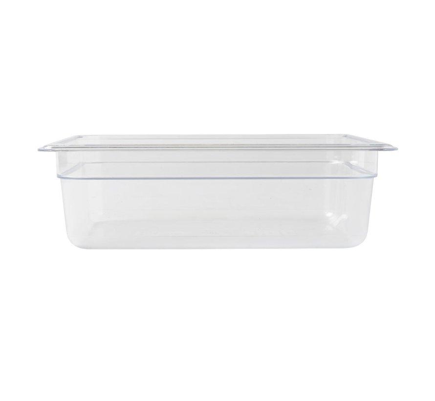 Camwear Gastronormbak helder transparant 1/2 x 100 mm polycarbonaat, 1 stuk