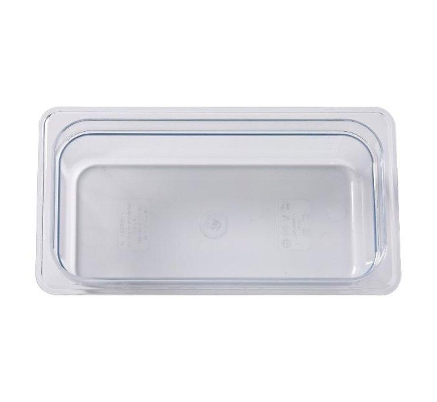 Camwear Gastronormbak helder transparant 1/3 x 100 mm polycarbonaat, 1 stuk