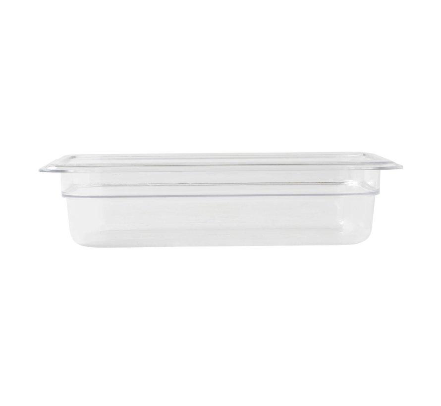 Camwear Gastronormbak helder transparant 1/4 x 65 mm polycarbonaat, 1 stuk