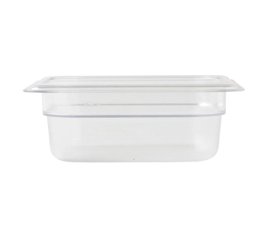 Camwear Gastronormbak helder transparant 1/6 x 65 mm polycarbonaat, 1 stuk