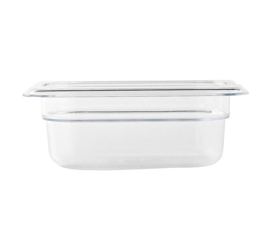 Camwear Gastronormbak helder transparant 1/9 x 65 mm polycarbonaat, 1 stuk