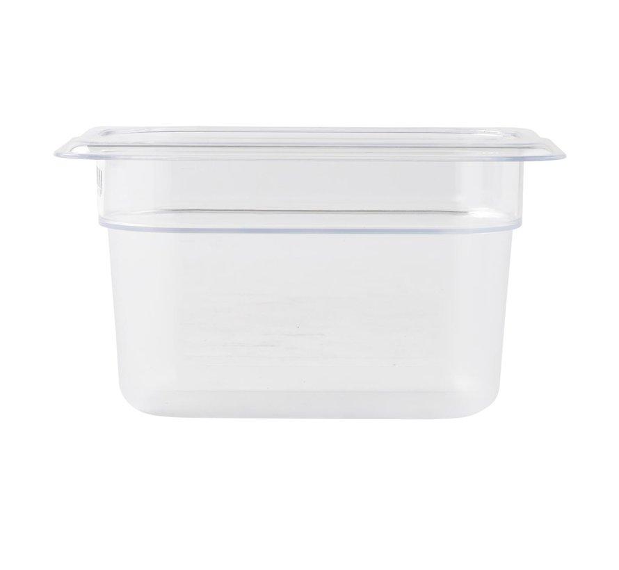 Camwear Gastronormbak helder transparant 1/9 x 100 mm polycarbonaat, 1 stuk