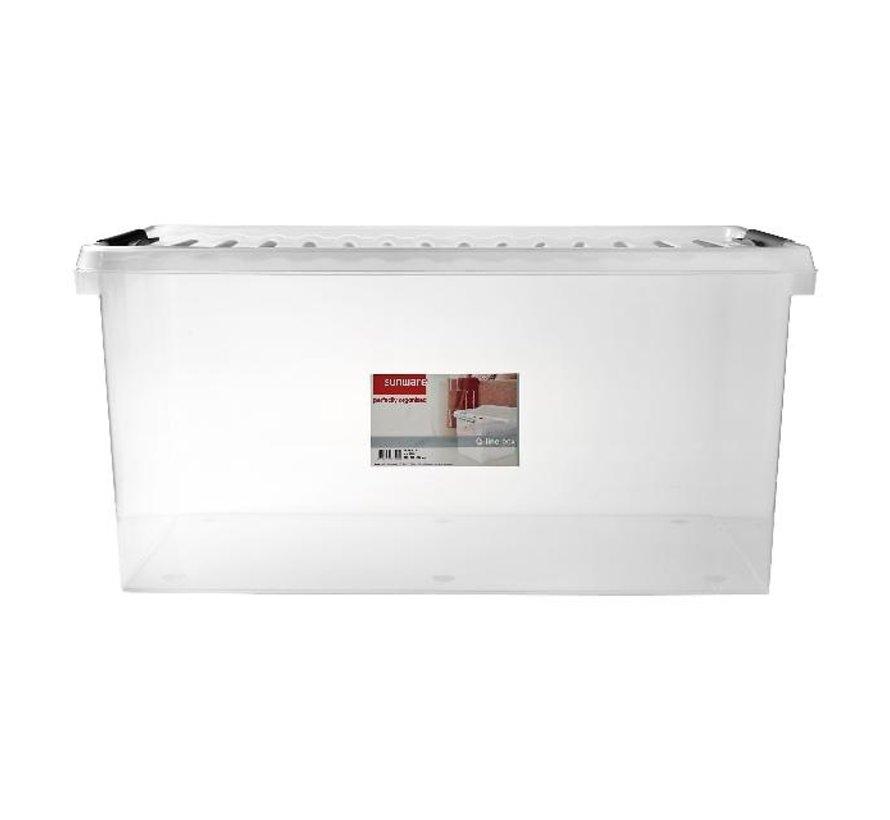 Sunware Opbergbox met deksel 120 liter 500 x 800 x 380 mm, 1 stuk
