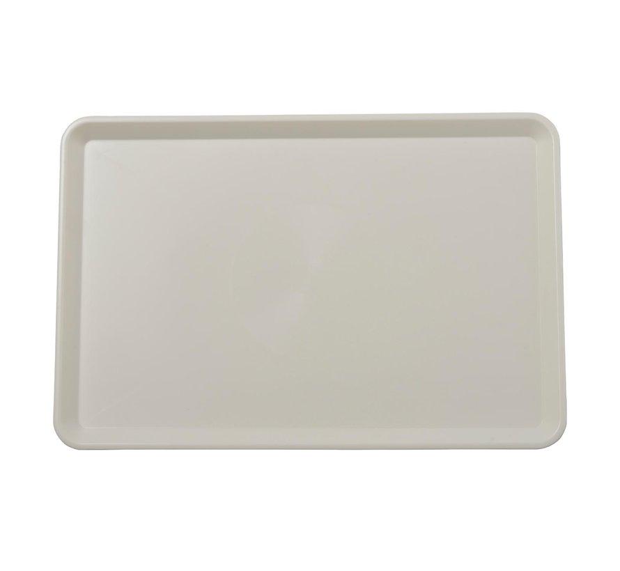Vitrineschaal ABS VB 040865 wit 42 x 28 cm, 1 stuk