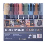 Overige merken Securit Krijtstift 2-6 mm, Earth colors, 8 stuks
