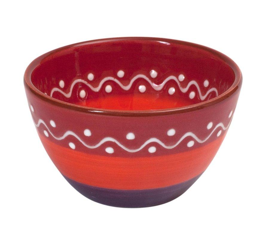 Bowl&Dishe Schaal rood, 11 cm, 1 stuk