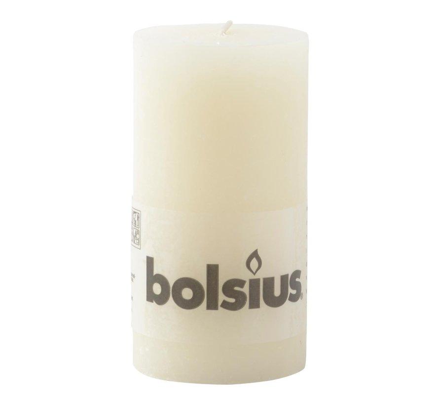Bolsius Stompkaars rustiek 130/68, ivoor, 1 stuk