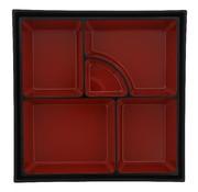 Overige merken Tokyo Desi Bentobox ABS zwart/rood, 1 stuk