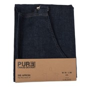 Chaud Deva Chaud Devant Bib apron plain blue denim 31 Blue Denim, 1 stuk