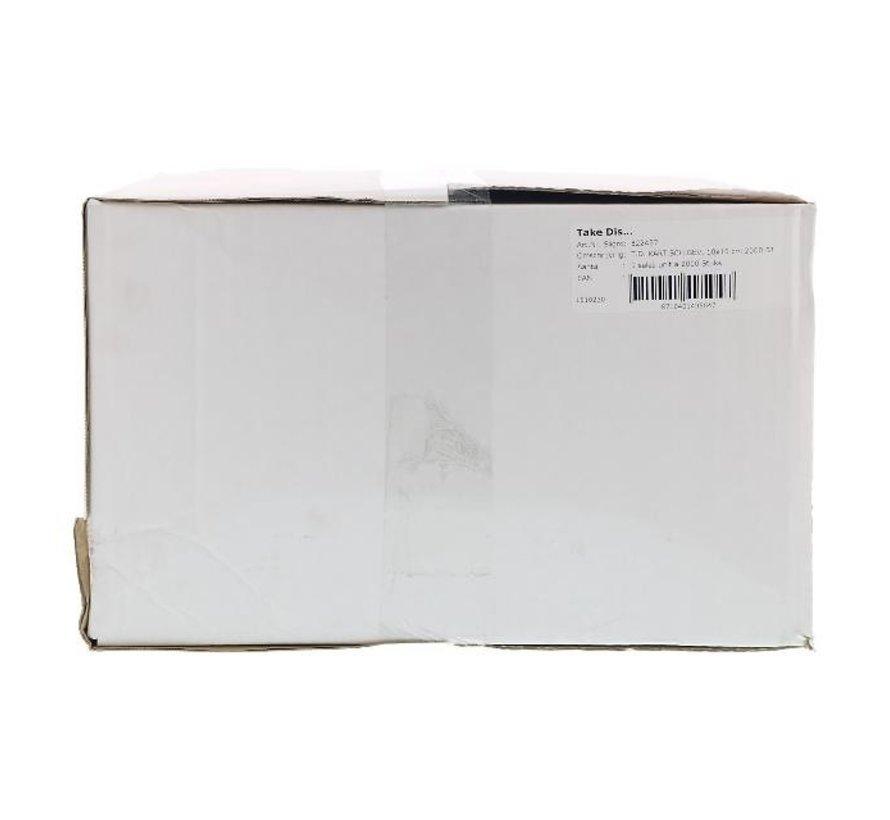 Take Dis Kartonnen schaaltjes gevoerd, 10 x 16 cm, 2000 stuks