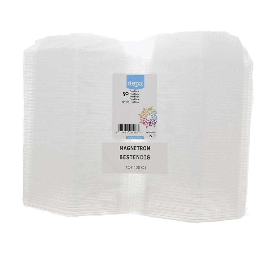 Depa Freshbox transparant 375 ml magnetronbestendig tot 120¡C, 50 stuks