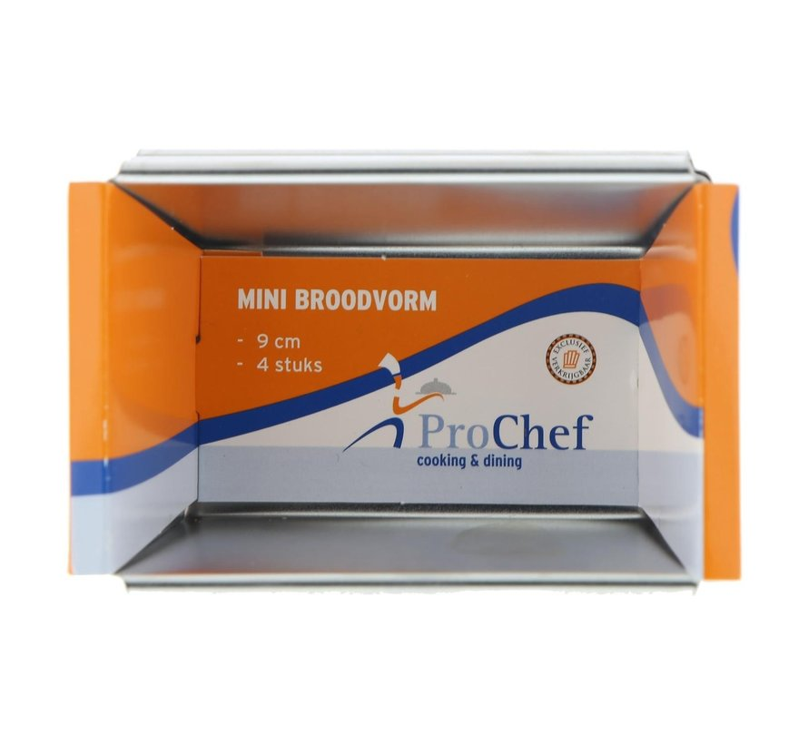 Pro Chef Broodvorm mini 9 cm, 4 stuks
