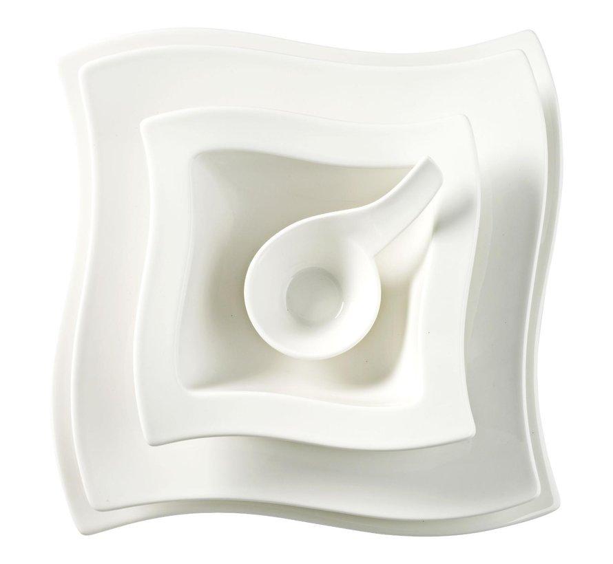 Villeroy & Boch Bol vierkant wit, 0,60 liter, 1 stuk