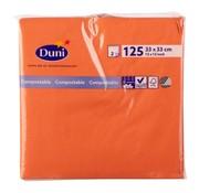 Duni Duni Servetten 2-laags 33 x 33 cm, mandarin, 125 stuks