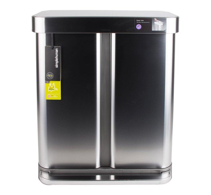 Simple Hum Afvalemmer RVS, 58 liter, 1 stuk