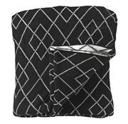 Overige merken Fleeceplaid 135 x 190 zwart, 1 stuk