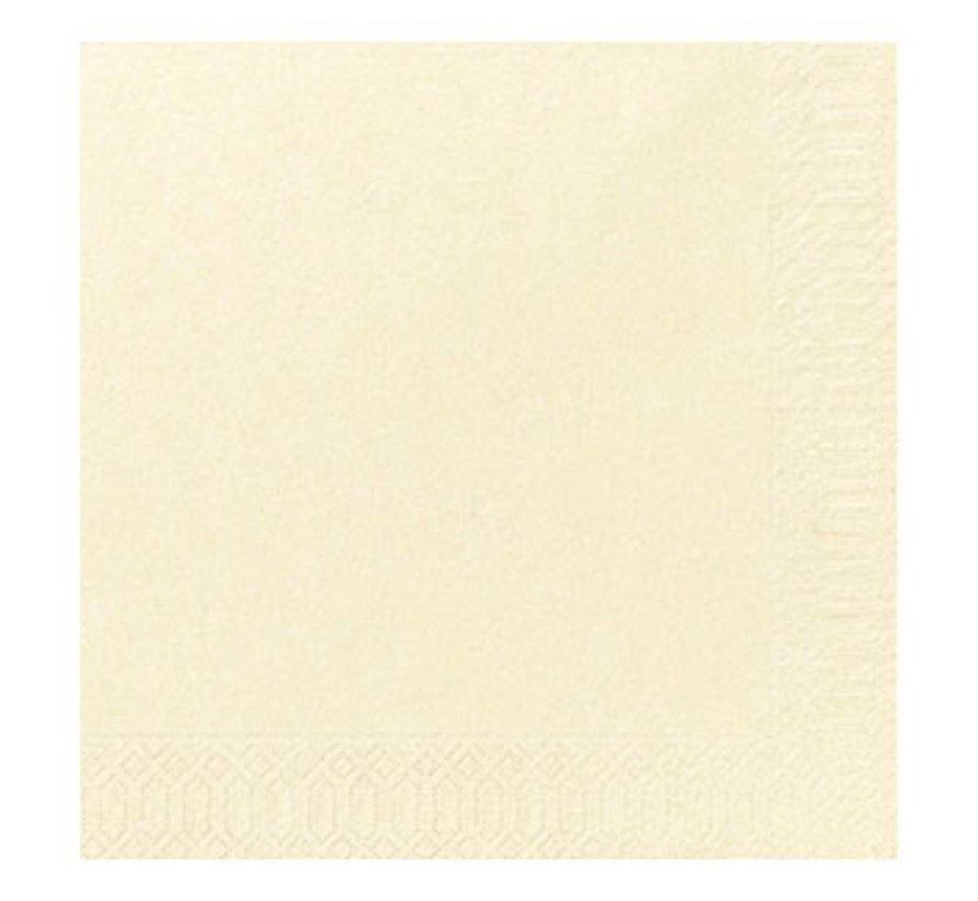Duni Servetten 2-laags 40 x 40 cm, cream, 125 stuks