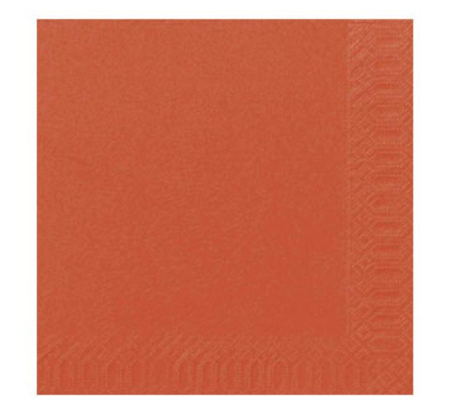 Duni Servetten 2-laags 40 x 40 cm, mandarin, 125 stuks