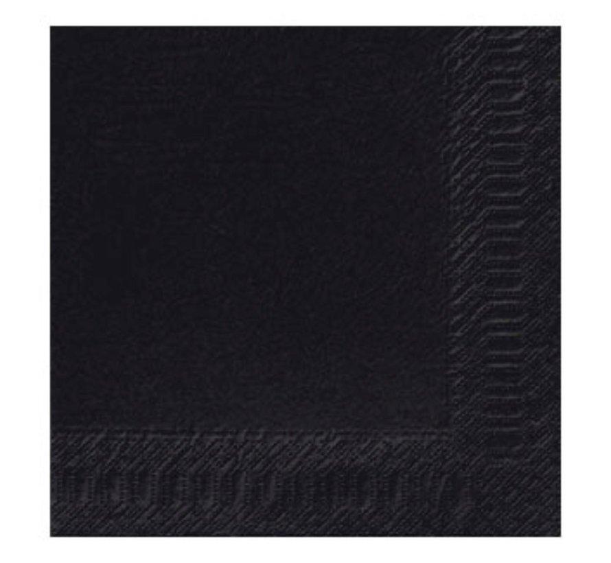 Duni Servetten 2-laags 40 x 40 cm, zwart, 125 stuks