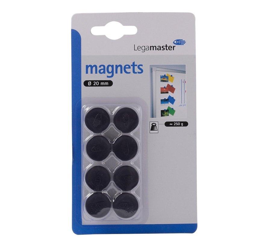 Legamaster Magneten zwart 20 mm, 1 stuk