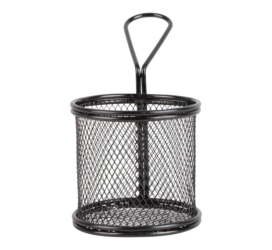 Servtrends Draadmand rond 9,3 x 8,8 cm, zwart, 1 stuk