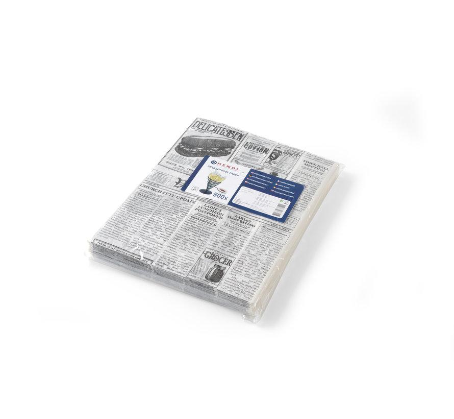 Hendi Vetbestendig papier, krantbedrukking, 500 stuks
