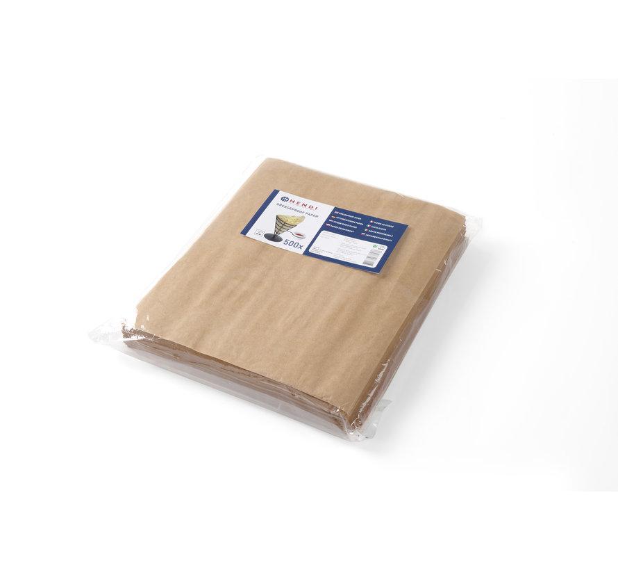 Hendi Vetbestendig papier, blanco, 500 stuks