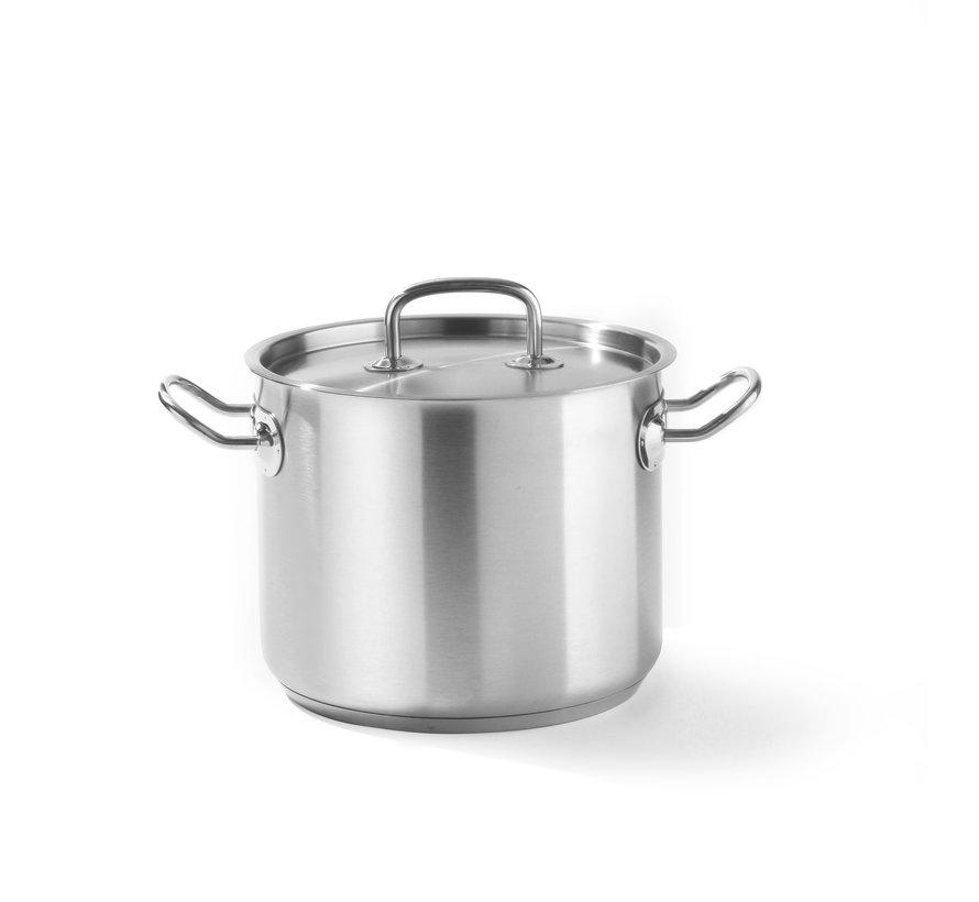 Hendi Kookpan hoog - met deksel, 1 stuk
