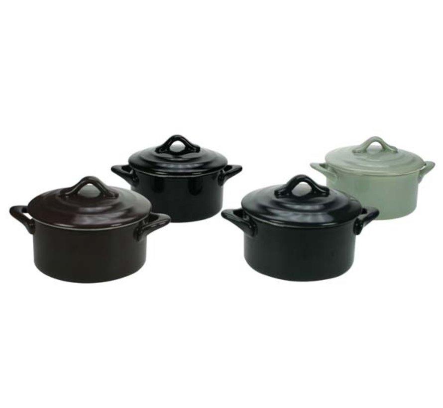 Cosy & Trendy Ovenschotel rond m/dek. d10xh5 ass, 4 stuks