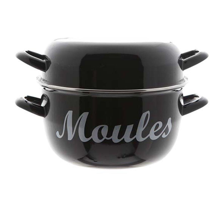 Cosy & Trendy Moules mosselpot 4kg zwart nieuw d24cm, 1 stuk