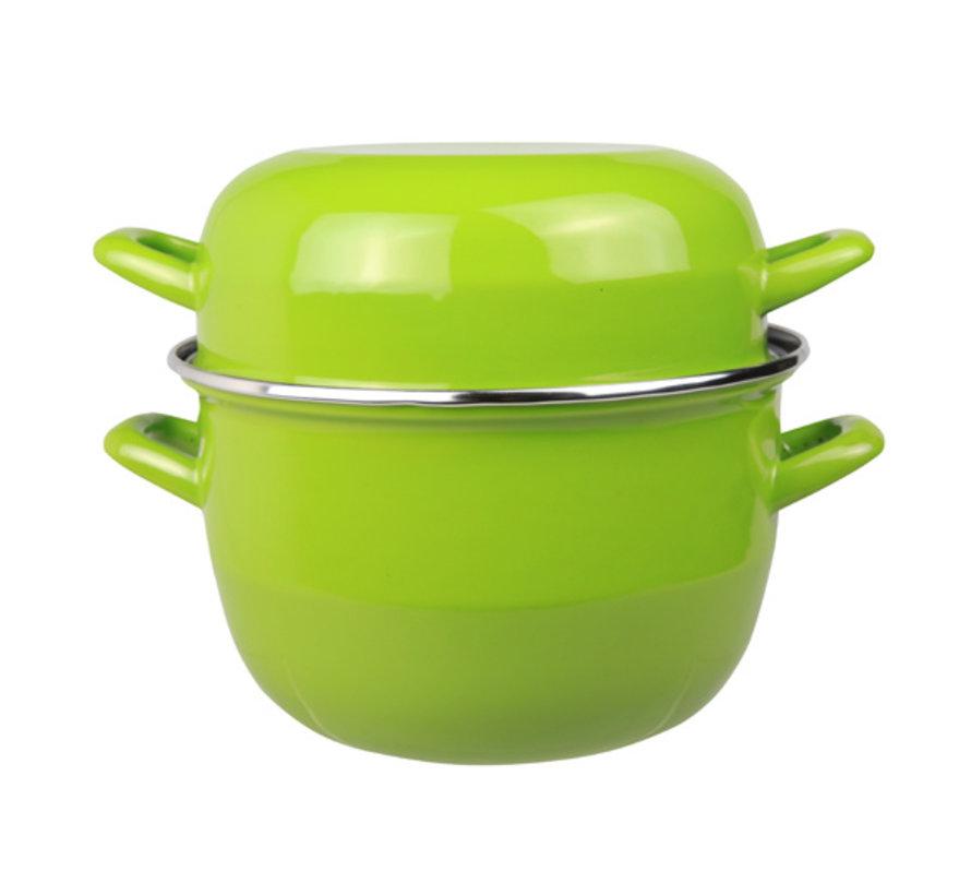 Cosy & Trendy Horeca mosselpot 2kg groen nieuw 3,250l, 1 stuk