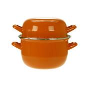 Cosy & Trendy Cosy & Trendy Horeca mosselpot 1,2kg oranje 2,8l 18cm, 1 stuk