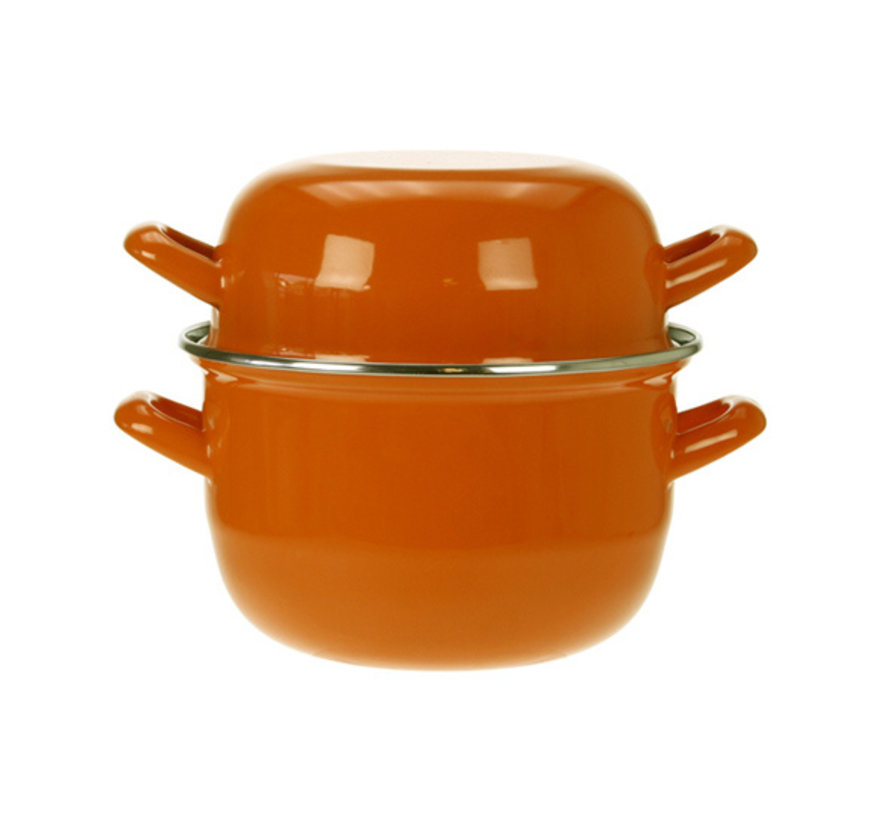 Cosy & Trendy Horeca mosselpot 1,2kg oranje 2,8l 18cm, 1 stuk