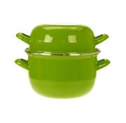 Cosy & Trendy Cosy & Trendy Horeca mosselpot 1,2kg groen 2,8l 18cm, 1 stuk
